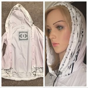 Chanel Identification Sport Jacket with Hoodie